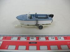 H370-0,5# WIKING H0 Anhänger mit Motorboot, 95, NEUW