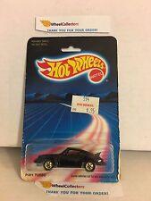 #9 P-911 Turbo Porsche 3968 * BLACK * 1986 Hong Kong * Vintage Hot Wheels * E20