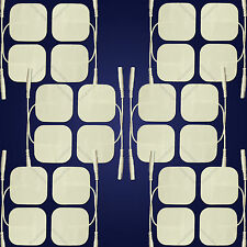 Vendeur britannique 24 long-life tens machine electrode pads-auto-adhésif connecteur 2mm