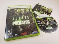 Aliens vs. Predator (Microsoft Xbox 360, 2010) Game Complete w/ Manual TESTED