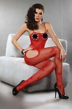 Bodystocking rossa inguine aperto Titania Tg S-L Livia Corsetti Sexy shop intimo