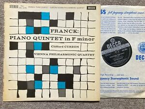 CLIFFORD CURZON Franck Piano Quintet ORIG Decca WBg SXL 2278 UK-1961   NM
