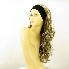 headband wig long wavy blond clear light copper wick and chocolate: KAMELYA 1561