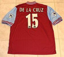 Aston Villa FC De La Cruz 2003 Match Worn Player Home Shirt Soccer Jersey