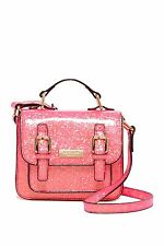 NWT Kate Spade New York Scout Coral Glitter Satchel (Tiny) Mini Small Bag