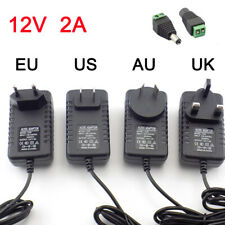DC 12v 2A 2000ma adapter power supply EU UK AU plug charger for led strip light