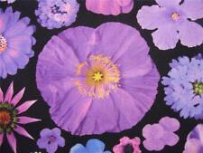 bloominescent ESTAMPADO DIGITAL FOTOGRÁFICA Flor Púrpura Tejido Robert Kaufman