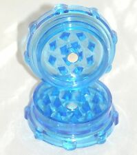 Acrylic Shark Tooth Herb Grinder, 5.2cm Round  [ Blue ] With magnet