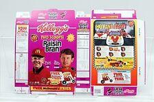 Kelloggs's Raisin Bran 1996 Ceral Box Featuring Joe Gibbs and Bill Elliott~ MINT