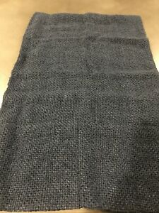 "Pottery Barn Faye Linen Textured Pillow Cover 16"" x  26"" MIDNIGHT BLUE #879"