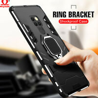Shockproof Armor Magnetic Ring Stand Case Cover For Huawei P20 Pro Mate 20 Lite