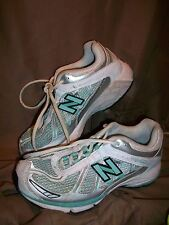 (USED/WORN) NEW BALANCE 740 WOMENS SIZE 7.5 D RUNNING SHOES SILVER WHITE GREEN