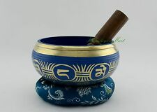 "Hand Carved Fine Quality 5"" Tibetan Singing Healing Meditation Bowl Frm Nepal"
