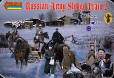 Strelets Models 1/72 NAPOLEONIC RUSSIAN SLEDGE TRAIN Part 2 Figure Set