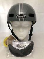 Nutcase Street MIPS Unisex Helmet Gray Silver Medium 56-60cm Removable Visor