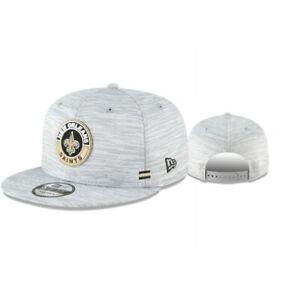 New Orleans Saints New Era Onfield 9Fifty Snapback Light Heather Gray hat cap