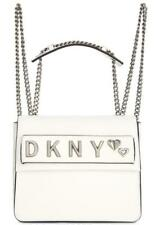 DKNY Women's White Smoke Convertible Leather Backpack NWT MSRP $248 B1