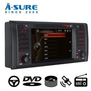 """Navigation Autoradio für BMW E39 X5 E53 5er 7"""" GPS DVD Bluetooth 16GB SD SWC RDS"""