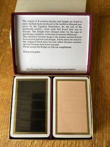 Playing Cards Financial Times Bridge Set BNIB Unopened vintqge 1980s