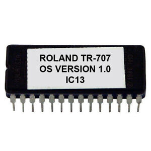 Roland TR-707 TR-727 Eprom Firmware OS 1.0 Boot Rescue Repair for TR707 TR727