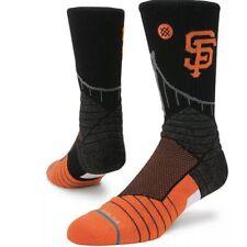 San Francisco Giants Socks MLB Baseball Diamond Professional Crew Knit Black New
