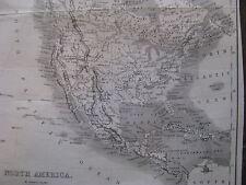 1861 ORIGINAL Civil War Map of the United States, Canada, Mexico