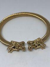 Acciaio Inox Gotico Golden Dragon Bracciale Rigido