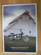D228 BROCHURE HARLEY-DAVIDSON 2001 ALL MODELS ENGLISH 64 PAGES
