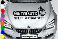 WD Autoaufkleber XXL WINTERAUTO statt Reifenwechsel Winter Sticker Motorhaube