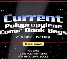 1000 Current Comic THICK Bags and Boards - NEW BCW Archival Book Storage