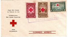 1944 Nicaragua Air Mail Cover - International Red Cross with 3 Stamps