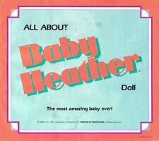 Digital User Manual For Baby Heather Doll scanned to disk Mattel troubleshooting