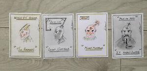 Charles Bronson Salvador set 4 original art postcards (NOT PRINTS)