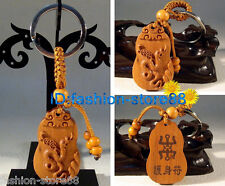 Classical Carved wooden Zodiac key chain keyring (Lucky Lovely Snake)