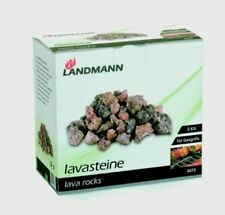 2 x 3kg New Landmann Lava Rocks Gas Barbecues Replacement BBQ Coals