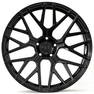 "20"" Rohana RFX10 Gloss Black Concave Wheels for Maserati"