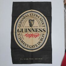 """GUINESS EXTRA STOUT Beer LINEN Banner/Poster/Ad 18x29 18""""x29"""" - Made in Ireland"""