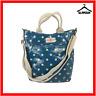 Cath Kidston Oilcloth Blue Polka Dot Shoulder Cross Body Bag Handbag Grab Bag B1
