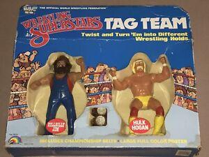 WWF LJN HULK HOGAN - WWF LJN HILLBILLY JIM - WWF LJN TAG TEAM -OPEN BOX COMPLETE