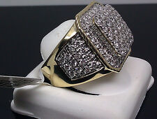 10K Men's Yellow Gold Uniquely Designed Square Shaped Ring With 3.00CT Diamond