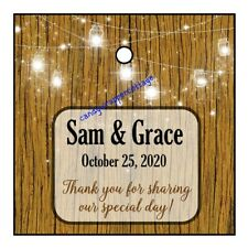 36 Wedding Fairy Lights Barn Country Personalized Gift Hang Tags Favors