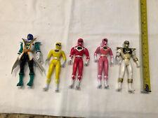 Nice Lot of 5 Power Rangers 4 Inch Action Figures