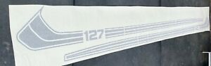 NEW FIAT 127 REPRODUCTION FACTORY OPTION STRIPE DECALS SATIN BLACK 1000220204