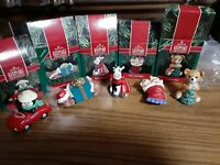 Lot of 5 Hallmark Christmas Ornaments 1990 with boxes