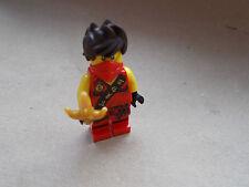 NOUVEAU LEGO KAI NINJAGO LES FIGURINE SANS MANCHES + OR LES COUTEAU / LAME & ROUGE MASQUENT NJO117