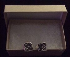 New $145 Solid Sterling Silver STRENGTH Cufflinks Gift