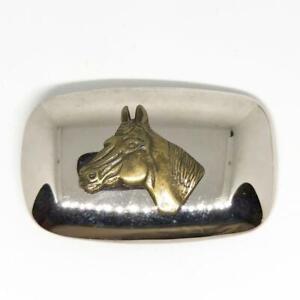 Belt Buckle Western Theme Horse Gold Tone