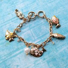 SEAHORSE CREATURES OF THE SEA CHARM BRACELET SP Octopus Turtle Whale Angel Fish