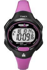 Timex T5K525 Women's Pink and Black Ironman Traditional 10 Lap Counter Watrch