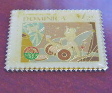 Disney Peter Pan TINKER BELL Dominica 1/2¢ Postal Stamp PIN Chaos In Drawer EVC!